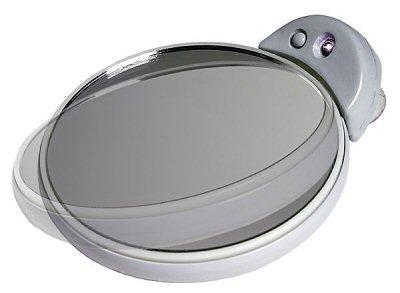 Zadro FC30L 5X 10X Magnifcation Spot Mirror with Light - White and Gray