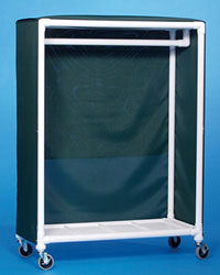 "IPU GR50 Garment Rack with 4"" Easy-roll Casters"