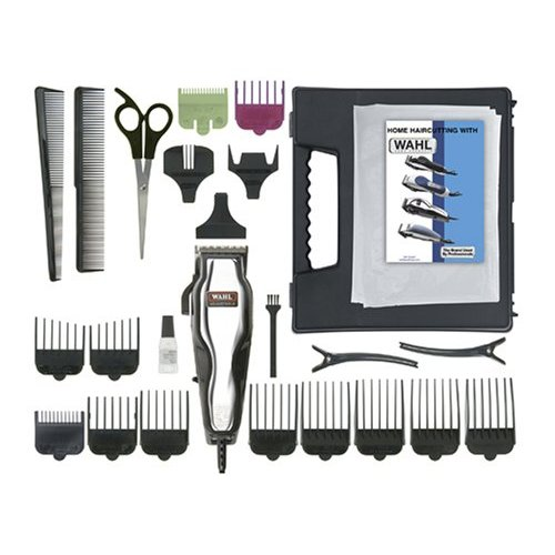 Wahl 79520-500 Chrome Pro 25 Piece Haircut Clipper Kit
