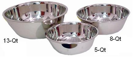 Lindy s 48D5 5-Qt Extra Heavy Stainless Steel Mixing Bowl