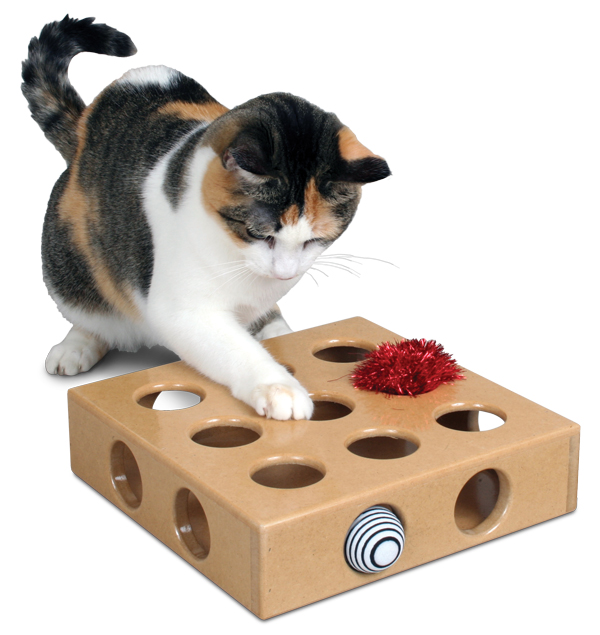 Smart Cat 3841 Peek and Play Toy Box with 2 toys - Case of 3