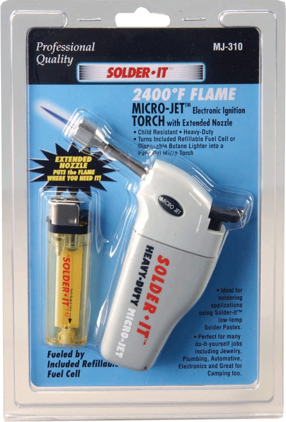 Solder It MJ-310 Heavy Duty Micro-Jettorch With Extended Flame Nozzle