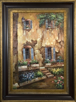 Artmasters Collection GE80896-670845 Life in Provence Framed Oil Painting