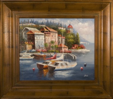 Artmasters Collection AC73539-69591 Marina Del Sol I Framed Oil Painting