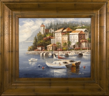 Artmasters Collection AC68584-69591 Marina Del Sol II Framed Oil Painting