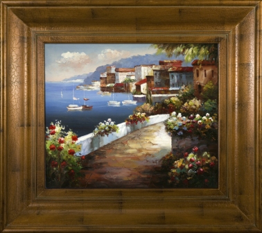 Artmasters Collection AC66818-69591 Marina Walkway II Framed Oil Painting