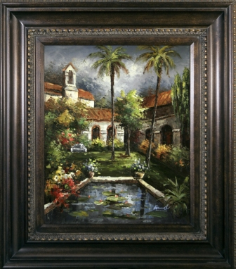 Artmasters Collection AC19849-67089 Mission Pond Framed Oil Painting