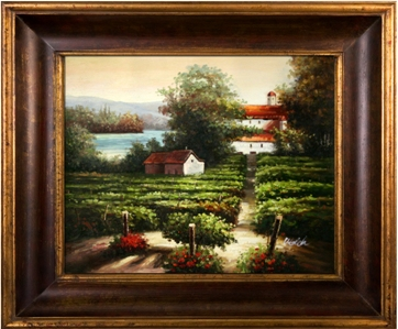 Artmasters Collection KM89157-40G Morning Glow Framed Oil Painting