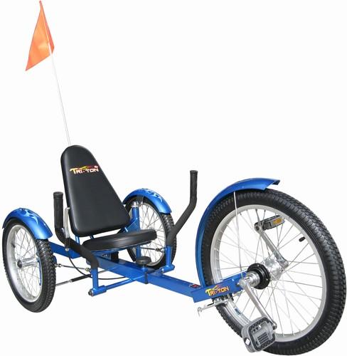 Triton Pro Tri-501BL Ultimate Three-Wheeled Cruiser - Blue