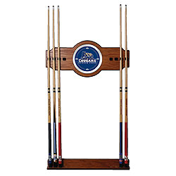 Brigham Young University 2 pc. Wood and Mirror Wall Cue Rack