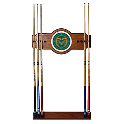 Colorado State University Wood and Mirror Wall Cue Rack