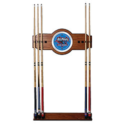 DePaul University Wood and Mirror Wall Cue Rack