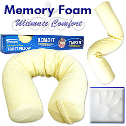 Medical Memory Foam Twist Pillow