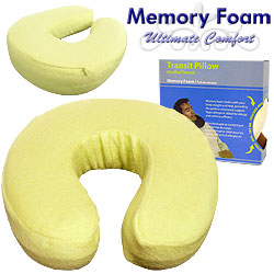 Memory Foam Head and Neck Support Transit Pillow