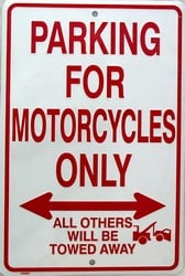 P - 007 Motorcycle Parking Only Sign - SP80003