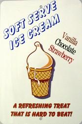 P - 2004 Soft Serve Ice Cream Parking Sign