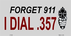 LP - 023 Forget 911 License Plate - A911