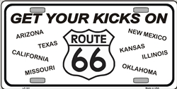 LP - 101 Route 66 Eight States License Plate - 8686