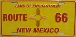 LP - 103 Route 66 New Mexico License Plate - A903