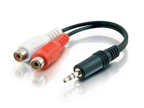 Cables To Go 40422 3.5Mm Stereo Male To 2 Rca Female Y Cbl