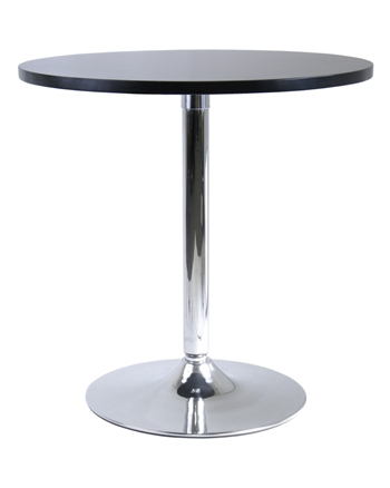 Winsome 93729 29 Inch Round Dining Table with Metal Leg - Black