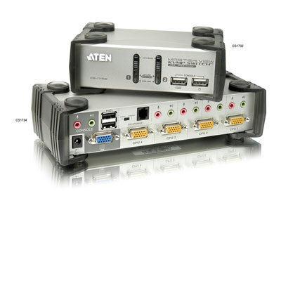 Aten Corp CS1734B 4-Port KVMP Switch w USB Hub