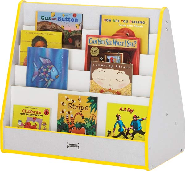 Jonti-Craft 3508JCWW180 - Rainbow Accents Pick-A-Book Stand - 1 Sided - Black Trim