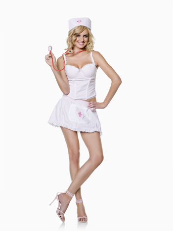 Costumes For All Occasions SV10121MD Candy Striper 4 Piece Med 8-10