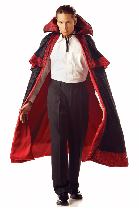 Costumes For All Occasions MR156024 Midnight Carnival Cape With Collar