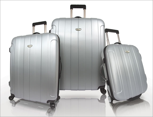 Traveler's Choice TC3900G ROME 3pc Hard-shell Spinning-Rolling Travel Collection