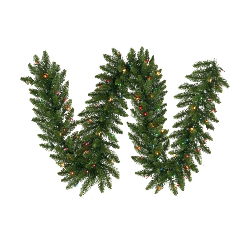 Vickerman A861107 9  x 12   Camdon Garland 240T 50MU Indoor-Outdoor