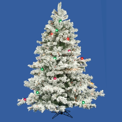 Vickerman A806368 6.5  x 62   Flocked Alaskan Tree 600Mu-G50