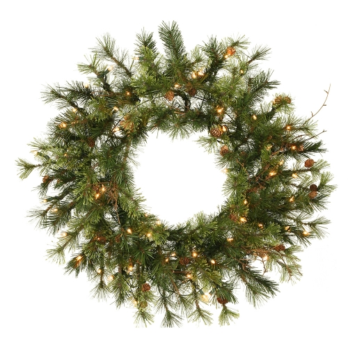 Vickerman A801825 24   Prelit Mixed Country Wreath 50CL
