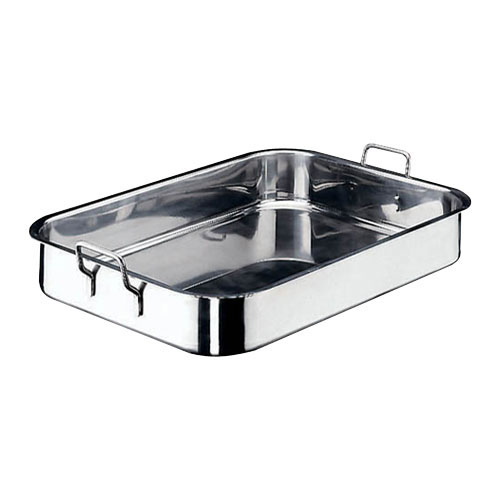 World Cuisine 11943-50 Stainless Steel Roasting Pan L 19 .625 x W 11.875 x H 3.5 Inches