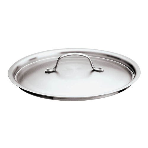 World Cuisine 12561-28 Stainless Steel Lid with Riveted Handle - 11 Inch