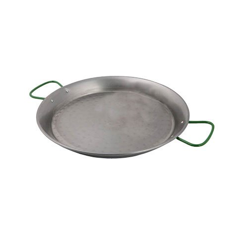 World Cuisine A4172439 Polished Carbon Steel 15.375 Inch Paella Pan