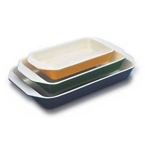 World Cuisine A1735134 Large 3 Qt Blue Rectangular Dish