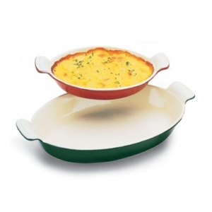 World Cuisine A1736720 Small .5 Qt Blue Oval Dish