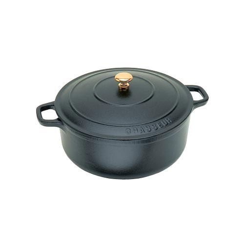 World Cuisine A1737016 Black 1.75 Qt Round Dutch Oven