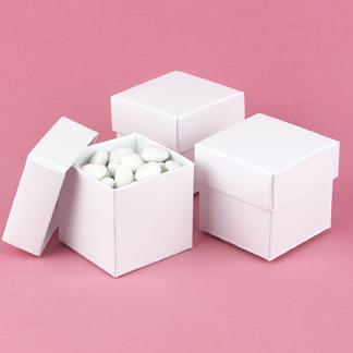 Hortense B. Hewitt 90217 White Shimmer Mix & Match Favor Boxes