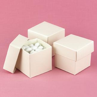 Hortense B. Hewitt 90218 Ivory Shimmer Mix & Match Favor Boxes