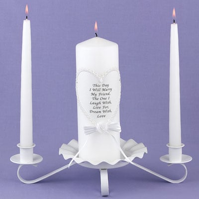 Hortense B. Hewitt 94705 This Day I Marry Lace Unity Candle Set