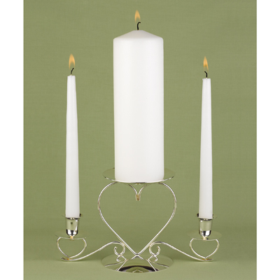 Hortense B. Hewitt 95075 White Unity Candle Set