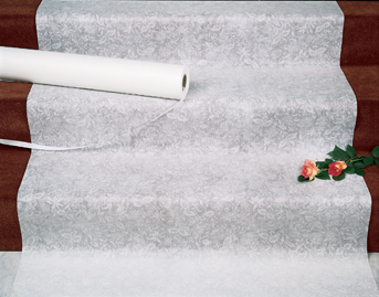 Hortense B. Hewitt 29709 White Fabric Aisle Runner