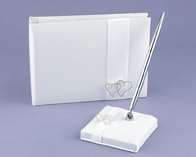 Hortense B. Hewitt 30313 White With All My Heart Guest Book
