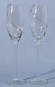 Hortense B. Hewitt 31825 Platinum Swirl Flutes