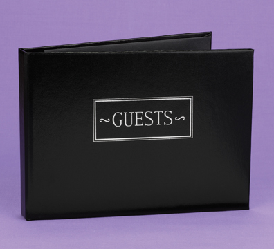 Hortense B. Hewitt 38923 Black Small Guest Book