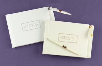 Hortense B. Hewitt 38931 Ivory Small Guest Book with Pen