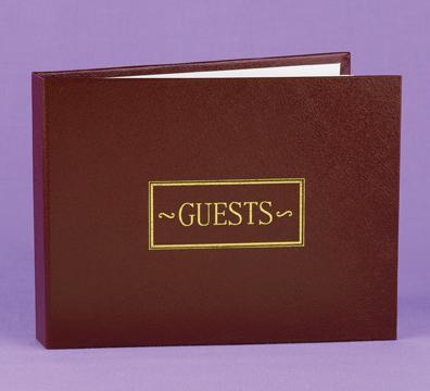 Hortense B. Hewitt 38934 Burgundy Small Guest Book