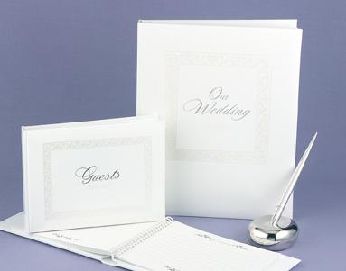 Hortense B. Hewitt 52702 White Essence Pearl Guest Book